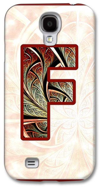 Fractal - Alphabet - F Is For Fractal Creations Galaxy S4 Case