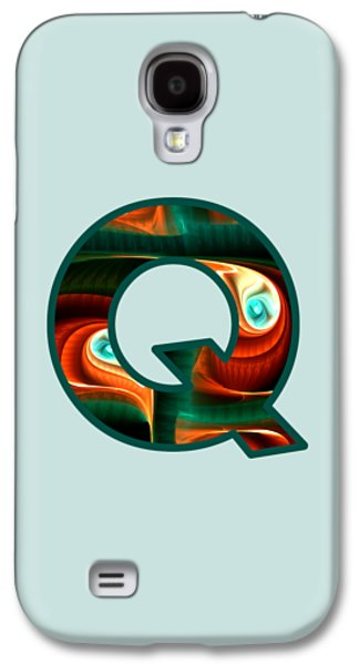 Fractal - Alphabet - Q Is For Quizzical Galaxy S4 Case