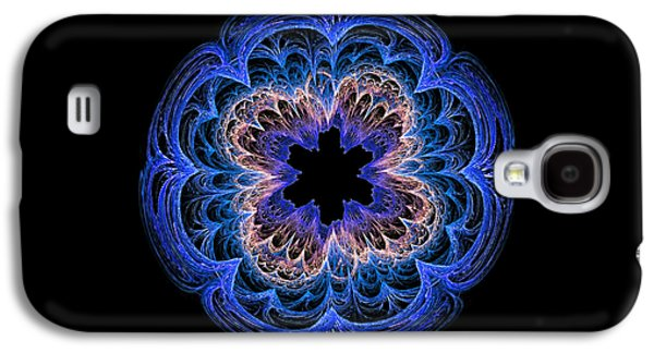 Fractal Art Blues By Kaye Menner Galaxy S4 Case by Kaye Menner