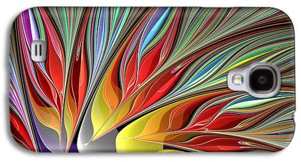 Fractal Bird Of Paradise Redux 2 Galaxy S4 Case