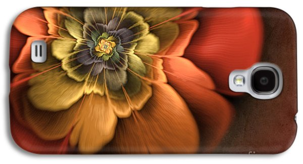 Fractal Pansy Galaxy S4 Case by John Edwards