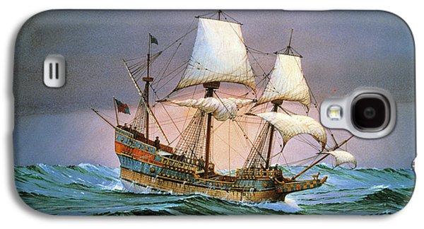 Francis Drake Sailed His Ship Golden Hind Into History Galaxy S4 Case by Cornelis de Vries