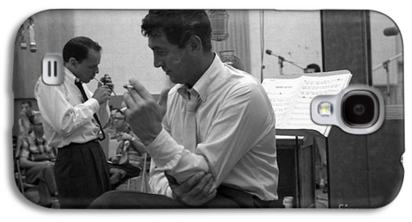Frank Sinatra And Dean Martin At Capitol Records Studios Galaxy S4 Case by The Titanic Project