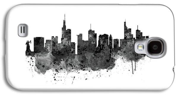 Frankfurt Black And White Skyline Galaxy S4 Case by Marian Voicu