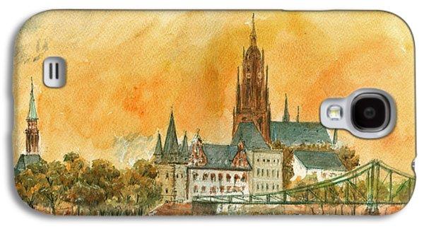 Frankfurt Watercolor Galaxy S4 Case by Juan  Bosco