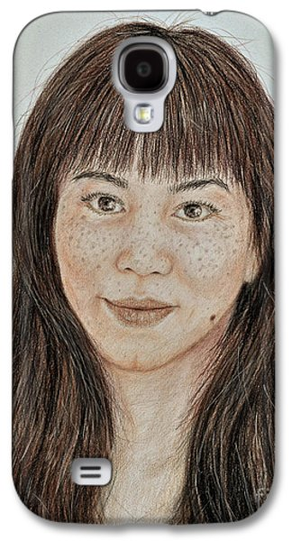 Freckle Faced Asian Beauty With Bangs  Galaxy S4 Case by Jim Fitzpatrick