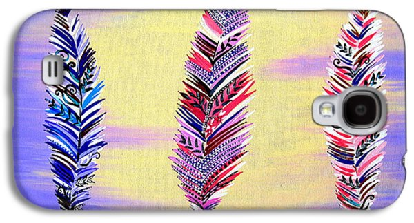 Free Spirited- Mauve Galaxy S4 Case by Cathy Jacobs