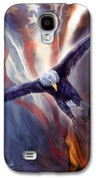 Freedom Eagle Galaxy S4 Case by Carol Cavalaris