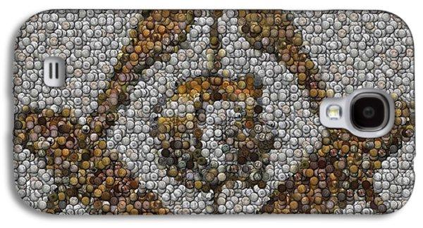 Freemason Coin Mosaic Galaxy S4 Case by Paul Van Scott