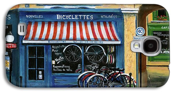 French Bicycle Shop Galaxy S4 Case by Marilyn Dunlap