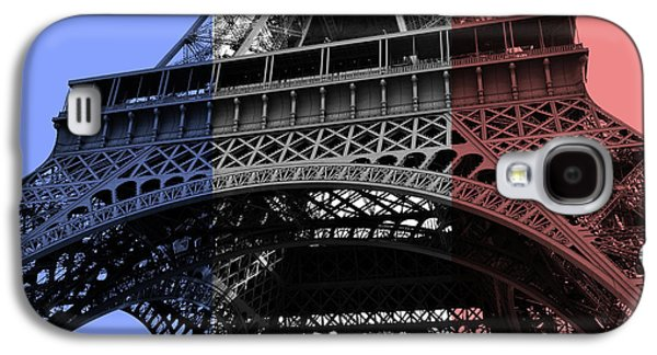 French Flag Motif Eiffel Tower Base And First Floor Perspective Galaxy S4 Case
