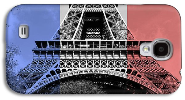French Flag Motif Eiffel Tower First And Second Floors Paris France Digital Art Galaxy S4 Case