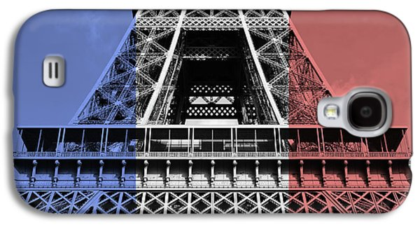 French Flag Motif Eiffel Tower First And Second Levels Paris France Galaxy S4 Case