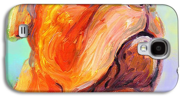 French Mastiff Bordeaux Dog Painting Print Galaxy S4 Case by Svetlana Novikova