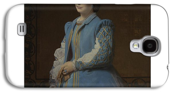 French Portrait Of A Lady In Blue Galaxy S4 Case by Charles Francois