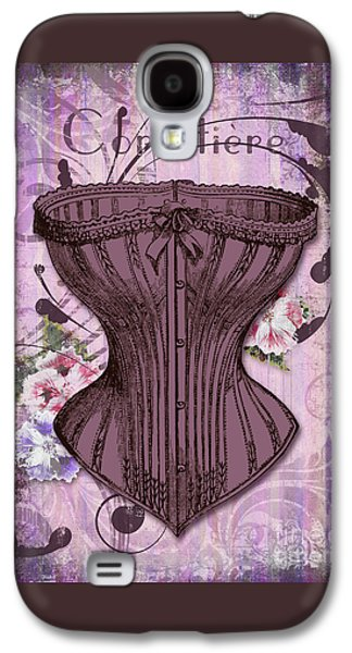 French Vintage Lingerie Fashion Corset Art Galaxy S4 Case by Tina Lavoie
