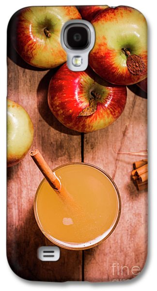 Fresh Apple Cider With Cinnamon Sticks And Apples Galaxy S4 Case