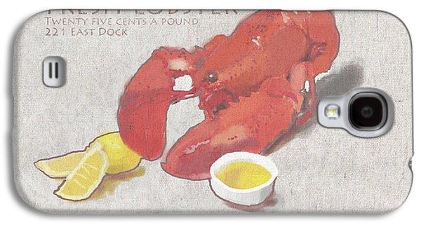 Fresh Lobster Sign Galaxy S4 Case by Brad Burns