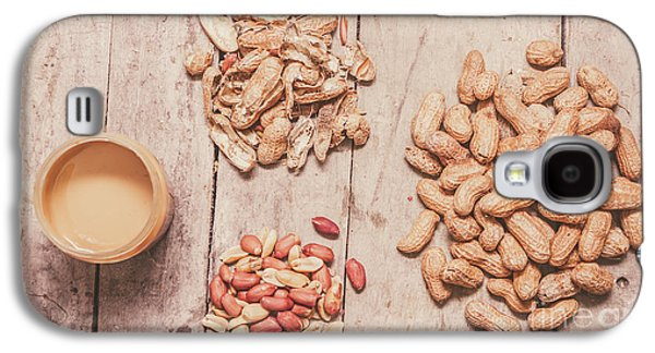 Fresh Peanuts, Shells, Raw Nuts And Peanut Butter Galaxy S4 Case by Jorgo Photography - Wall Art Gallery