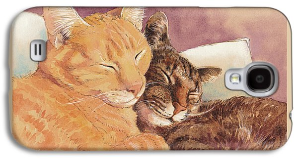 Frick And Frack Take A Nap Galaxy S4 Case by Tracie Thompson