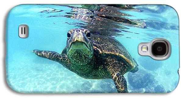 friendly Hawaiian sea turtle  Galaxy S4 Case by Sean Davey