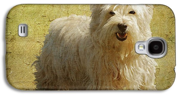 Dogs Digital Art Galaxy S4 Cases - Friendly Smile Galaxy S4 Case by Lois Bryan