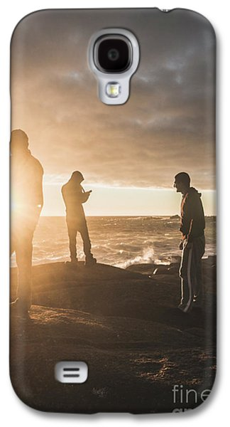 Galaxy S4 Case featuring the photograph Friends On Sunset by Jorgo Photography - Wall Art Gallery