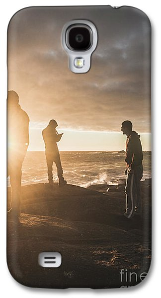 Friends On Sunset Galaxy S4 Case by Jorgo Photography - Wall Art Gallery