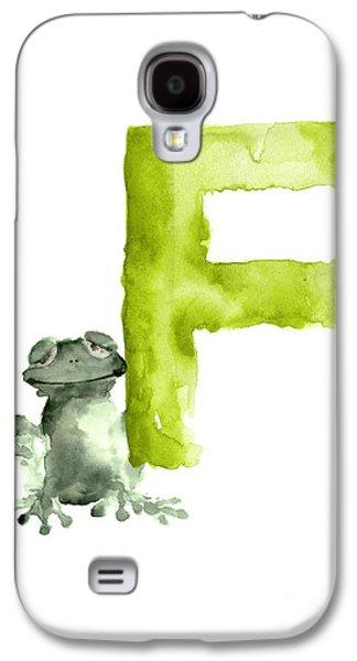 Frog Watercolor Alphabet Painting Galaxy S4 Case by Joanna Szmerdt