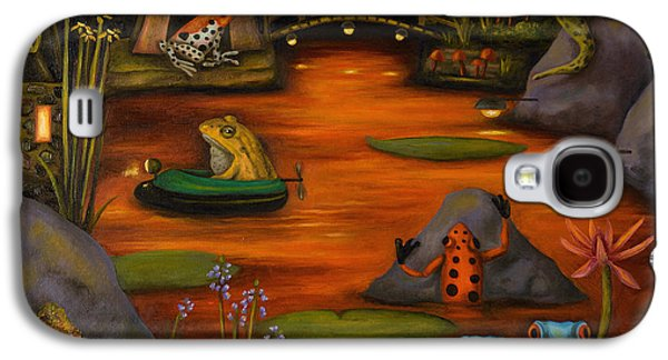 Frogland 2 Galaxy S4 Case by Leah Saulnier The Painting Maniac