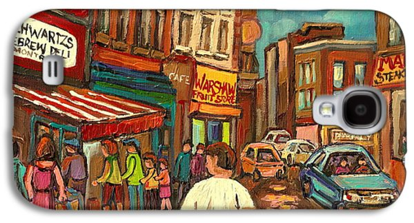 From Schwartz's To Warshaws To The  Main Steakhouse Montreal's Famous Landmarks By Carole Spandau  Galaxy S4 Case by Carole Spandau
