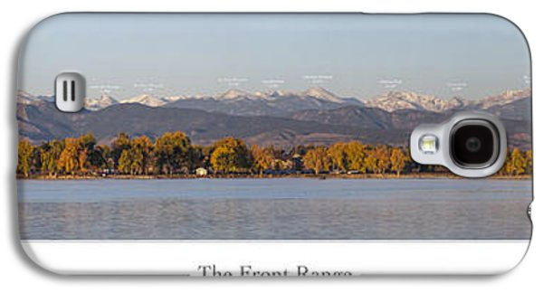 Front Range With Peak Labels Galaxy S4 Case