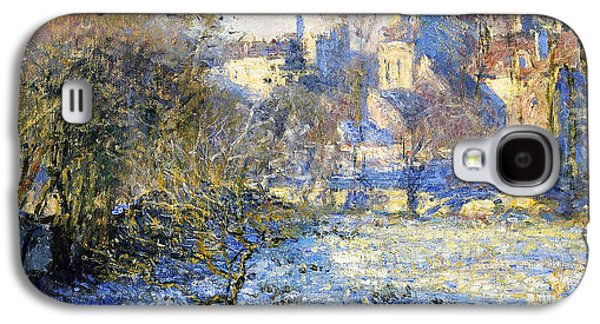 Country Paintings Galaxy S4 Cases - Frost Galaxy S4 Case by Claude Monet