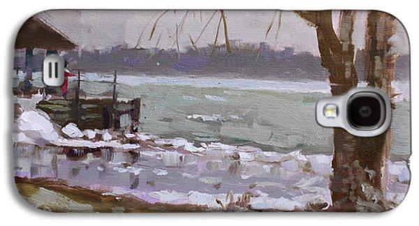 Frozen Niagara River Galaxy S4 Case by Ylli Haruni