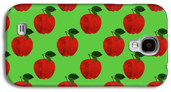 Fruit 02_apple_pattern Galaxy S4 Case by Bobbi Freelance