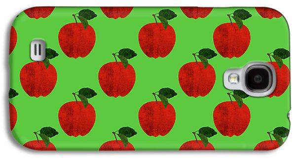 Fruit 02_apple_pattern Galaxy S4 Case by Bobbi Freelance