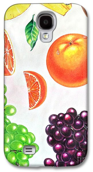 Fruit Illustrations - Markers And Pencil Galaxy S4 Case by Miriam Danar