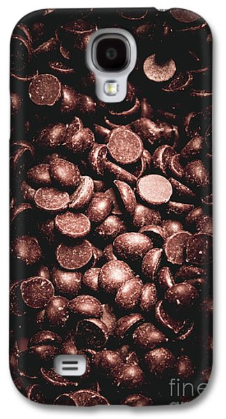 Full Frame Background Of Chocolate Chips Galaxy S4 Case by Jorgo Photography - Wall Art Gallery