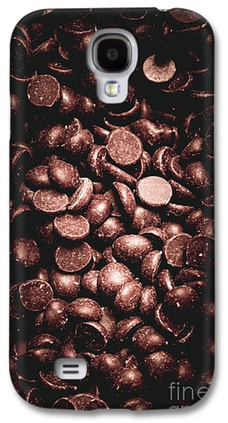 Full Frame Background Of Chocolate Chips Galaxy S4 Case