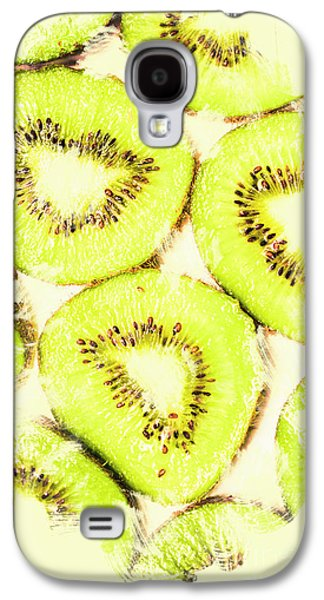 Full Frame Shot Of Fresh Kiwi Slices With Seeds Galaxy S4 Case by Jorgo Photography - Wall Art Gallery