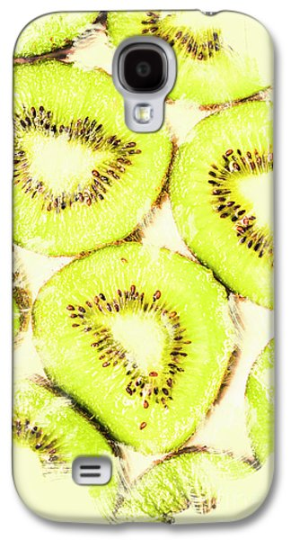 Full Frame Shot Of Fresh Kiwi Slices With Seeds Galaxy S4 Case