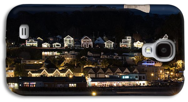 Full Moon Over Capitola Galaxy S4 Case by Deana Glenz