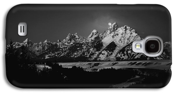 Full Moon Sets In The Tetons Galaxy S4 Case