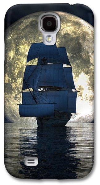 Full Moon Pirates Galaxy S4 Case by Daniel Eskridge
