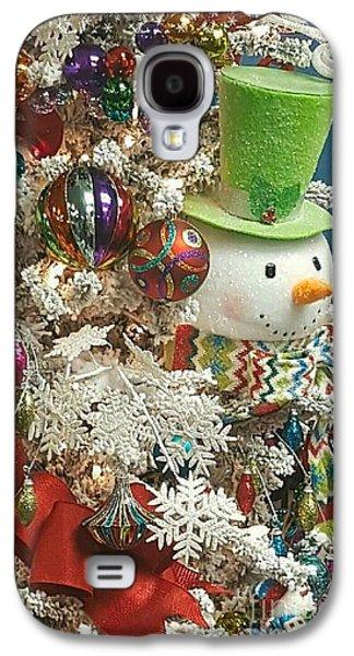 Fun Snowman Holiday Greeting Galaxy S4 Case