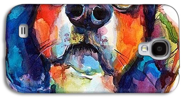 Funny Beagle Watercolor Portrait By Galaxy S4 Case