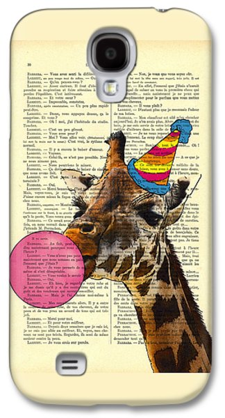 Funny Giraffe, Dictionary Art Galaxy S4 Case by Madame Memento