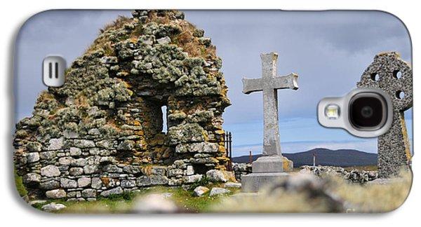 Gaelic Headstone Galaxy S4 Case by Nichola Denny