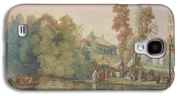 Gallant Scene  Picnic At A Lake, Galaxy S4 Case by Jean Pierre Norblin