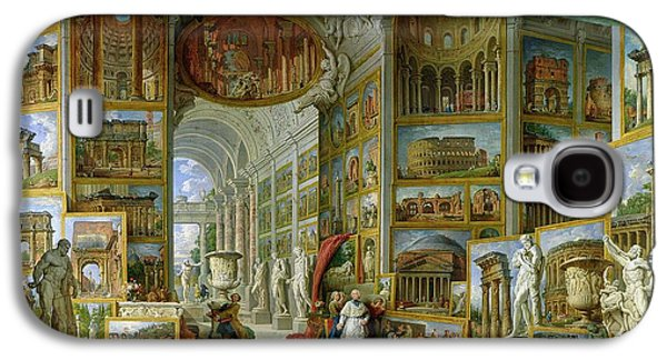 Gallery Of Views Of Ancient Rome Galaxy S4 Case by Giovanni Paolo Pannini